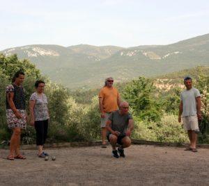 Pétanque, Jeux jeûne et randonnée, Photo